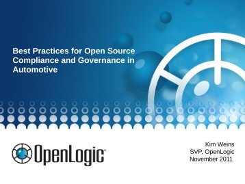 Best Practices for Open Source Compliance and Governance in ...
