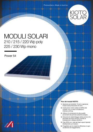 MODULI SOLARI - Solar Energy