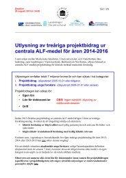 Centrala ALF-medel 2014-2016 - Västerbottens läns landsting