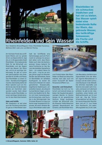 Rheinfelden und sein Wasser - Birseck Magazin