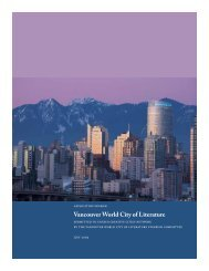 Vancouver World City of Literature - The Association of Book ...