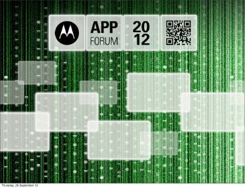 Development Tools and NFC - Motorola Solutions Launchpad