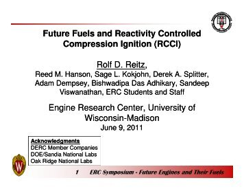 Future Fuels and Reactivity Controlled Compression Ignition (RCCI ...