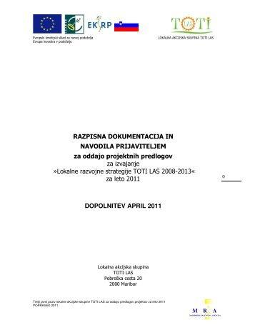 Lokalne razvojne strategije TOT - Mariborska razvojna agencija