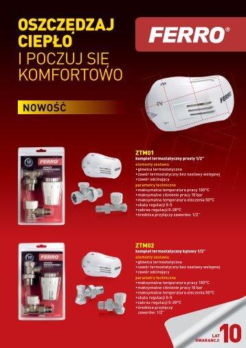 zawory termostatyczne i akcesoria - Ferro
