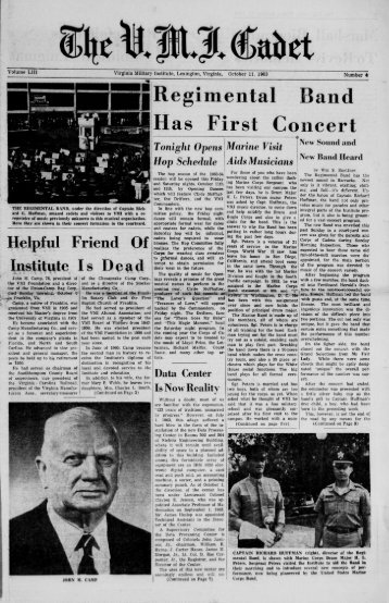 The Cadet. VMI Newspaper. October 11, 1963 - New Page 1 [www2 ...