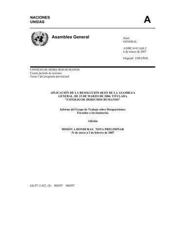 Asamblea General - Acnur