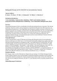 Radiopeptid-Therapie mit 90-Y DOTATOC bei neuroendokrinen ...