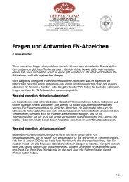 FN-Abzeichen Fragen - Haflinger Reit- und Fahrverein Fischen eV