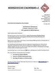 Einladung - beim Hamburger Schachverband