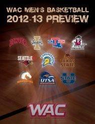 2012-13 WAC Men's Basketball Preview - XOS Product Marketing