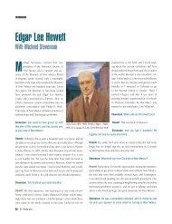 Interview with Edgar Lee Hewett - El Palacio Magazine