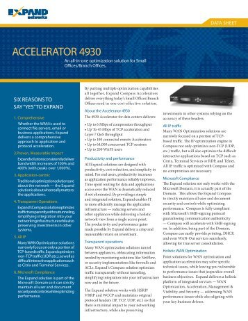 ACCELERATOR 4930 - Interlink Communication Systems