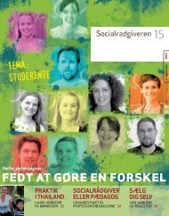Socialrådgiveren nr. 15-2007 - Dansk Socialrådgiverforening