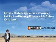 Aktuelle Studien-Ergebnisse zum privaten Autokauf und Nutzung für ...
