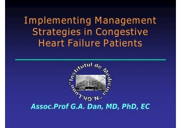 Implementing Management Strategies in Congestive ... - Medikal.ro