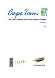 The Status of Cape Town: Development Overview (2005)