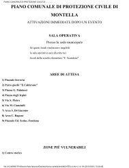 piano comunale di protezione civile di montella