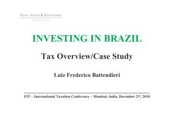 INVESTING IN BRAZIL - Foundation for International Taxation