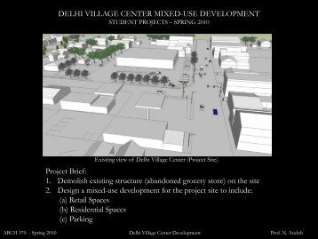 DELHI VILLAGE CENTER MIXED-USE ... - SUNY Delhi