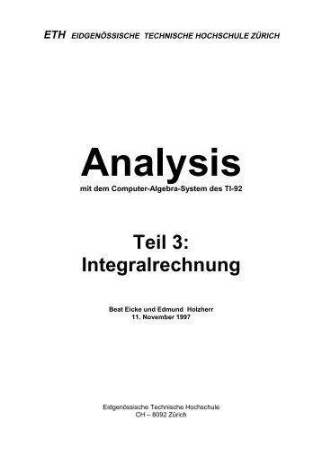 Teil 3: Integralrechnung