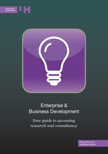 Enterprise & Business Development - University of Hertfordshire