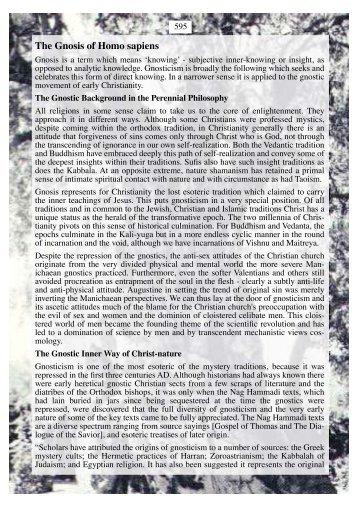 The Gnosis of Homo sapiens - Dhushara