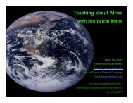 Teaching about Africa with Historical Maps - Center for African Studies