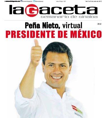 PRESIDENTE DE MÉXICO - SEMANARIO LA GACETA