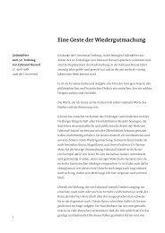 Eine Geste der Wiedergutmachung - Dr. Rolf Böhme