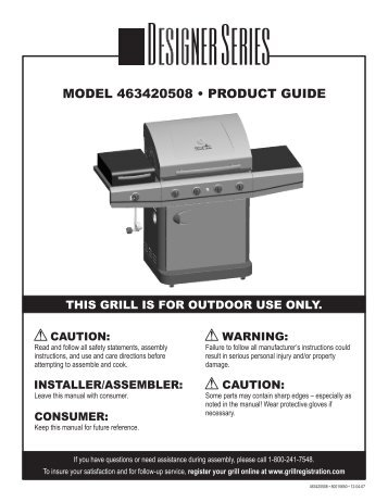 MODEL 463420508 • PRODUCT GUIDE - Home Depot