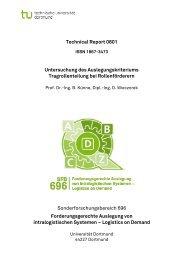 Technical Report 0801 Sonderforschungsbereich 696 ... - SFB 696