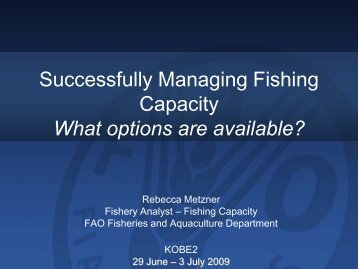 Successfully Managing Fishing Capacity What options ... - Tuna-org