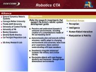 Robotics CTA - US Army Research Laboratory