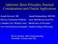 Apheresis: Basic Principles, Practical Considerations and