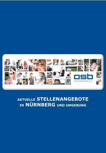 Aktuelle STELLENANGEBOTE in NÜRNBERG und Umgebung