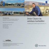 Kfz-Mechatroniker/in - Mercedes Autohaus Karl Müller KG