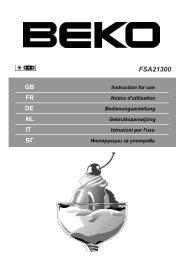 Beko FSA21300 vriezer - Wehkamp.nl