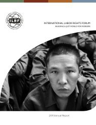 INTERNATIONAL LABOR RIGHTS FORUM 2011 Annual Report