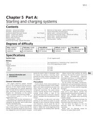 Chapter 5 Part A: Starting and charging systems