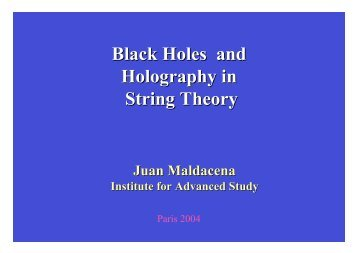 Black Holes and Holography in String Theory - Strings 2004