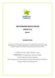 NM MILLIONAIRE RAFFLE RULES (DRAW 013) - National Lottery