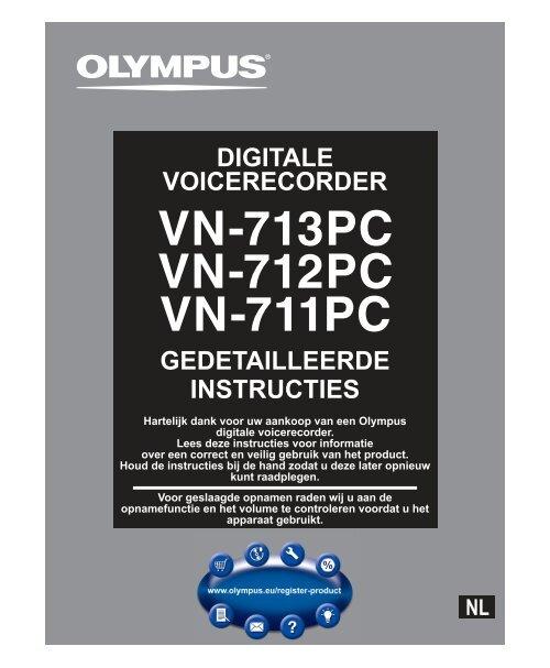 gedetailleerde instructies digitale voicerecorder - Olympus