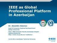 IEEE as Global Professional Platform in Azerbaijan - IEEE Computer ...