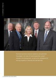 COMPANY PROFILE The Board possesses extensive experience ...