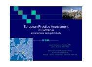 European Practice Assessment in Slovenia
