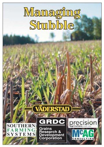Managing Stubble - Grains Research & Development Corporation