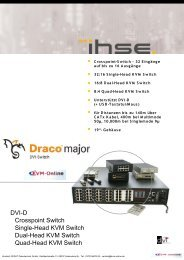 DVI-D Crosspoint Switch Single-Head KVM Switch ... - KVM-Online