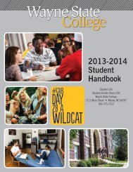 2011-2012 Student Handbook - Wayne State College