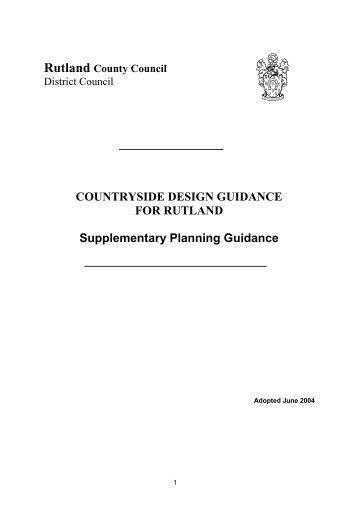 Countryside Design Guidance - Rutland County Council